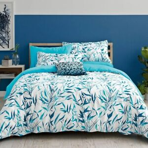 Clarissa Hulse Bamboo (Turquoise) 100% Cotton King Duvet cover Set (2 P/cases)