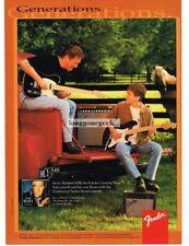 1997 FENDER Telecaster, Stratocaster Electric Guitar STEVE WARINER Vtg Print Ad