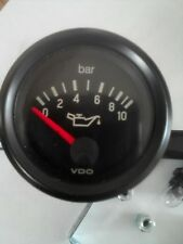 VDO Vision Oil Pressure Clock Jeep Landrover Black Face Dial 0-10Bar 12 Volt