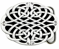 Celtic Knot Belt Buckle Oval Shaped Black Grey Authentic Dragon Designs Product
