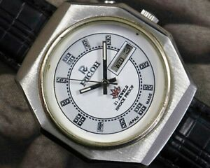 VINTAGE RICOH AUTOMATIC CAL.R31 DAY/DATE JAPAN MEN'S USED WATCH WORKING 15101