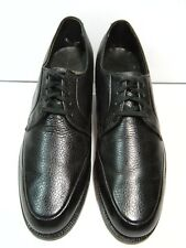 Weyenberg Massagic Men's Oxfords size 10 B Lace Up Black Pebbled Leather #58 JB