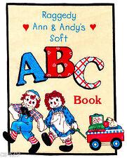 "7.5"" RAGGEDY ANN ANDY SCHOOL CHALKBOARD TEACHER ABC FABRIC APPLIQUE IRON ON"