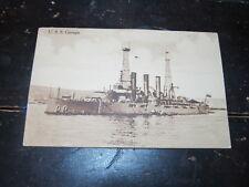 Vintage military postcard WW1 battleship USS Georgia