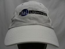 K & L LIGHTING -  WHITE - EMBROIDERED - ADJUSTABLE BALL CAP HAT!