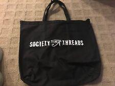 Society Threads 100% Organic Cotton 16oz Canvas Bag Tote BLACK ECO Friendly NEW