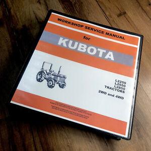 KUBOTA L2250 L2550 L2850 TRACTOR SERVICE REPAIR MANUAL SHOP BOOK OVERHAUL 452pgs
