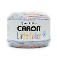 Yarnspiration Caron Latte Cakes Yarn - Persimmon Blue - 8.8 oz