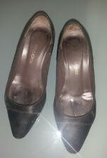 scarpine décolleté pelle donna molto usate 35 impronta piede tacchi consumati