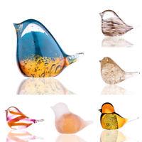 Handmade Glass Bird Paperweight Art Glass Blown Collectible glass Bird figurines