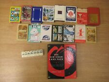 Job lot of playing cards games set of dominoes Zen Koan pack Scotland Canada