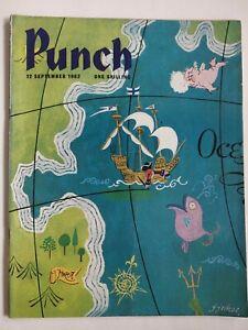 Punch Magazine 1962 September - London UK Humor - Vintage Issue