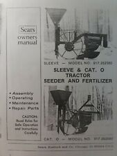 Sears Tractor 3 Point Hitch Amp Sleeve Seeder Amp Fertilizer Owner Amp Parts Manual