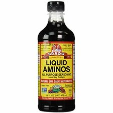 Braggs Liquid Aminos Natural Soy Sauce Nutrition Salads Veggies Dressing 16 Oz.