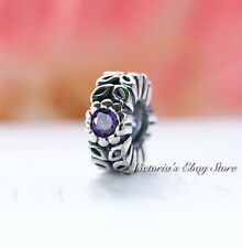 Authentic Pandora Charm Silver Purple Twice As Nice Spacer 791224CFP **Retired**