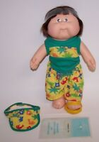 Cabbage Patch Kids Boy Doll Hal Hannibal Splashin Kids 1988 w/ paperwork