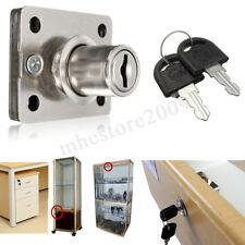 Desk Dead Bolt Lock For Drawers Box Cabinet Cupboards Locker Panel w/Two �