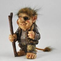 Troll Holding Walking Stick Sculpture Gift Ornament Home Fantasy Home Decor
