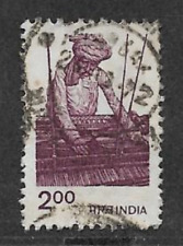 INDIA POSTAL ISSUE - QE1I ERA - 1983 - USED STAMP - AGRICULTURE - WORKER & LOOM