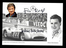 Hans Herrmann Autogrammkarte Original Signiert Motorsport + A 167566