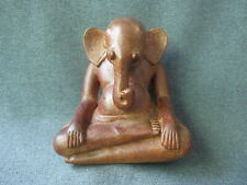 Vintage folk art Les Artisans D'angkor Cambodia Ganesha elephant wooden figure
