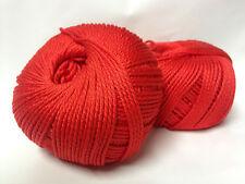 10 pelotes 100 % coton /rouge/ fabriqué en FRANCE