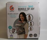OPEN BOX Ergobaby Four Position Bundle of Joy Baby Carrier Grey Free Shipping