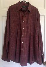Ralph Lauren 100% Cotton Classic Fit Red Check Shirt X Large 16.5 34/35