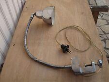 Lampe ancienne vintage d'atelier bureau articulée chromée design années 50 60