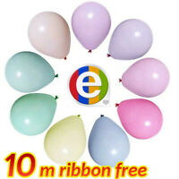 """100pcs Macaron Candy Colored Balloons Pastel Latex Balloons 10"""" Party Decoration"""