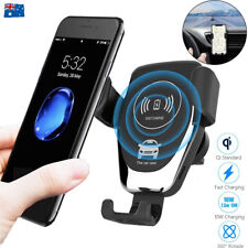 Qi Wireless Fast Charger Car Gravity Holder Mount For iPhone X Xs Max S9 S10 +