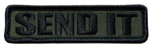 "Send It Military Combat Sniper Patch [""Velcro Brand"" Fastener-4.0 X 1.0 -SP8]"