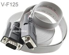 25ft VGA (HD15) Male to Male Flat Ribbon Monitor Cable, CablesOnline V-F125