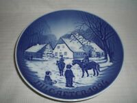 Bing & Grondahl B & G Denmark Christmas Plate 1994 A Day at the Deer Park
