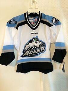 Reebok Youth ECHL Jersey Alaska Aces Team White sz S/M