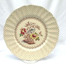 "FOUR Royal Doulton Grantham D5477 Dinner Plates 9 1/2"" Flowers Transferware"