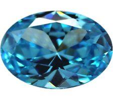 8x10mm Unheated 3.14ct AAAAA Sea Blue Sapphire Diamonds Cut Oval VVS Loose Gems