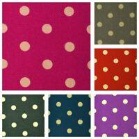 "Polka Dot Cotton Fabric CANVAS Flower Pattern Patchwork Material 150cm 59"" Wide"
