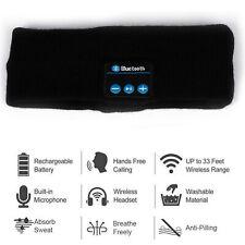 Soft Wireless Bluetooth Stereo Headphones Earphone Sleep Headset Sports Headband