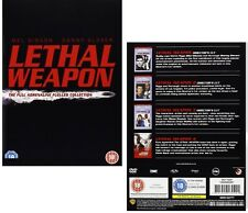 LETHAL WEAPON  1-4 (1987-1998): Mel Gibson + Danny Glover  NEW  UK DVD not US