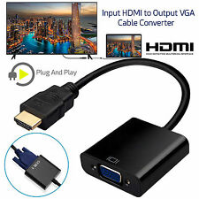 Input HD HDMI to Output VGA Cable Converter Adapter for PC DVD TV Monitor UK