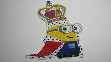DESPICABLE ME MINION KING #2 BRITISH INVASION 2015 EMBROIDERED PATCH SEW IRON ON