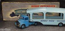DINKY TOYS №982 BEDFORD PULLMORE CAR TRANSPORTER 1954 DARK CAB LIGHT BLUE BODY