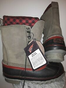 Red Wing Steel Shank Duck Boots Waterproof Insulated Men's Sz 8 USA NOS NWT