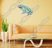 "Frog Bullfrog Abstract Colorful Wall Sticker Room Interior Decor 25""X18"""
