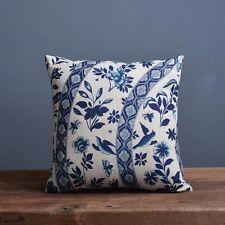 Kissenbezug blau-weisses Porzellanmuster Blumen (43x43) Oriental Kissenhülle