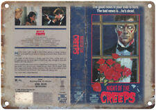 """Night of the Creeps HBO Cannon VHS Video 10"""" X 7"""" Reproduction Metal Sign V33"""