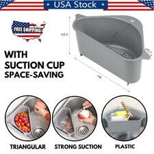 Kitchen Sink Corner Storage Rack Holder Drain Strainer Basket Organizer Us Stock