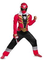 Power Rangers Super Megaforce RED Ranger Muscle Costume Boy's size 4-6 New