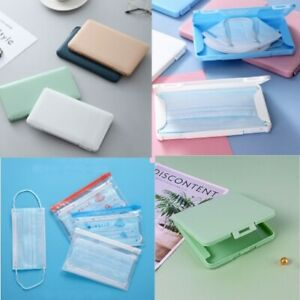 Portable Face Mask Container Mouth Cover Storage Box Mask Case Holder Car Hanger